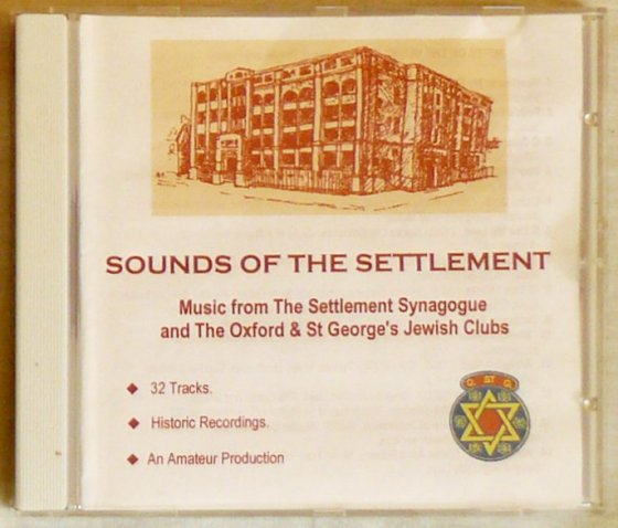 Sounds of the Settlement - Front Cover