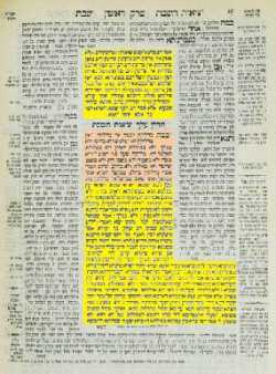 Color Coded Gemara Page
